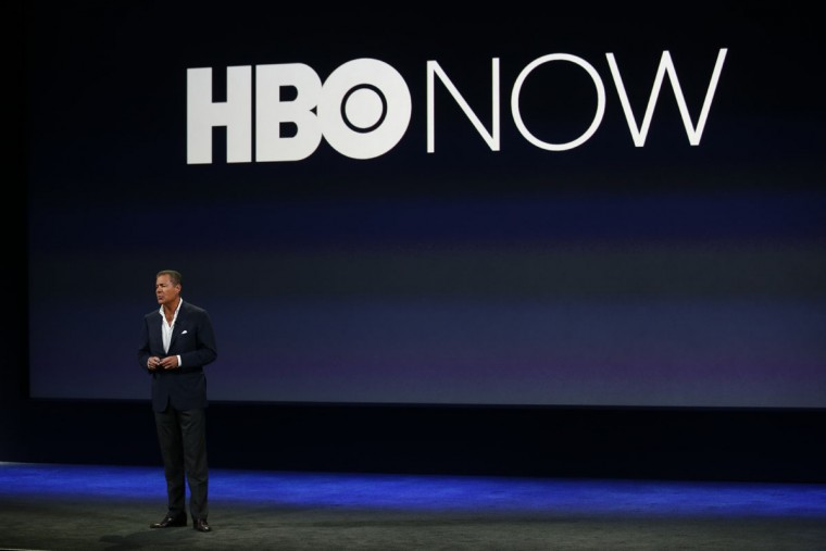 Richard Plepler speaks on stage during an Apple special event at the Yerba Buena Center for the Arts on March 9, 2015 in San Francisco, California. (Photo by Stephen Lam/Getty Images)