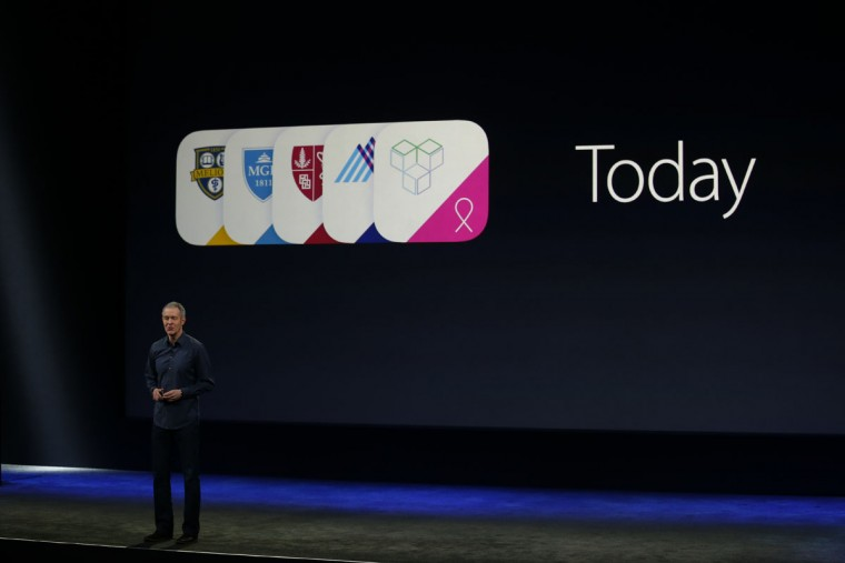 Apple Senior Vice President of Operations Jeff Williams announces ResearchKit on stage during an Apple special event at the Yerba Buena Center for the Arts on March 9, 2015 in San Francisco, California. (Photo by Stephen Lam/Getty Images)