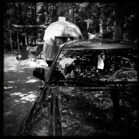 """Ethel"" sits at a Deep Creek State Park campsite. (Christopher T. Assaf/Baltimore Sun)"