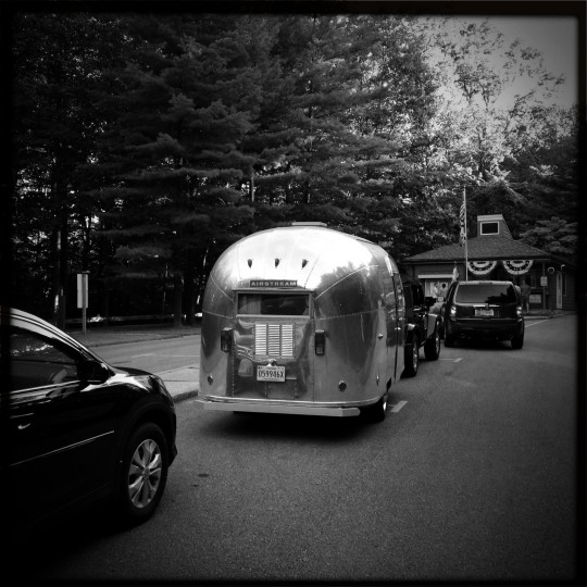 """The first outing with """"Ethel,"""" the 1963 Airstream Bambi, at Cunningham Falls State Park in the Catoctin mountains. Just over a year later we purchased a second Airstram, a larger 1957 Caravanner, that is under restoration. (Christopher T. Assaf/Baltimore Sun)"""