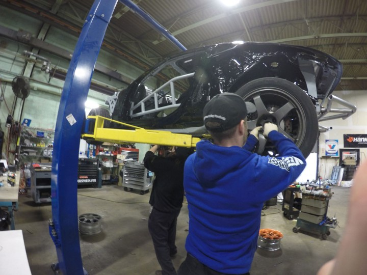 Every off-season, the cars are torn down and re-built to increase performance and reliability. Brian and Ray check every detail to make sure the cars are ready to go. I check in with them daily to make sure they have all the parts and tools they need.