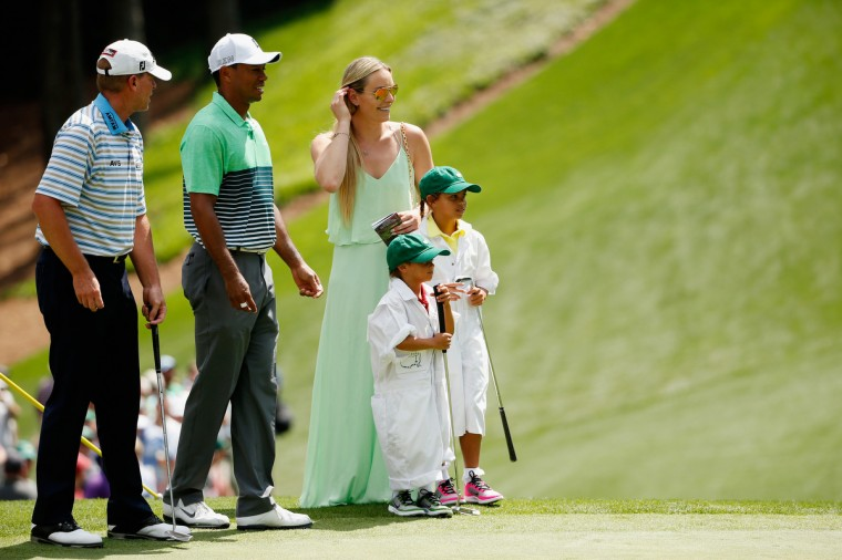 tiger woods and girlfriend lindsey vonn at the masters