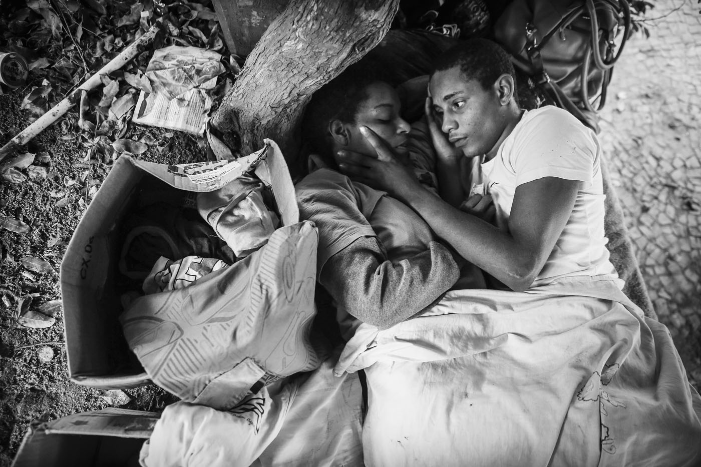 Portraits of the homeless in Rio