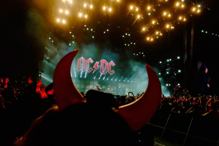 Musicians Brian Johnson of AC/DC performs onstage during day 1 of the 2015 Coachella Valley Music And Arts Festival (Weekend 2) at The Empire Polo Club on April 17, 2015 in Indio, California. (Photo by Frazer Harrison/Getty Images for Coachella)
