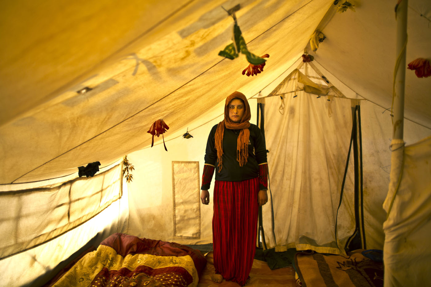 Being pregnant in makeshift tent camps
