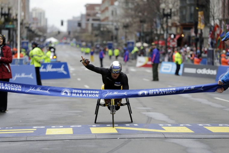 Boston marathon wheelchair dick