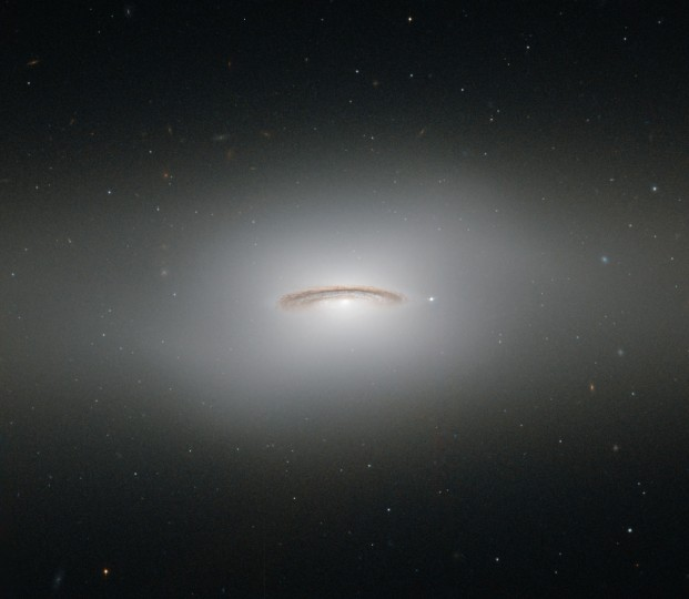 This image by the Hubble Space Telescope shows NGC 4526, one of the brightest lenticular galaxies known. (ESA/Hubble & NASA via AP)
