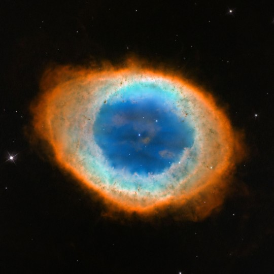 Messier 57, the Ring Nebula, is seen in this Hubble Space Telescope image. (NASA/ESA, C. Robert O'Dell (Vanderbilt University) via AP)