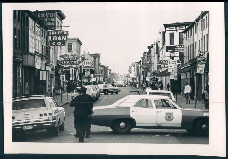 Riots along Gay Street. WIlliam Hotz