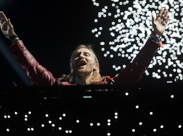 French DJ David Guetta performs on day three of the Coachella Music Festival in Indio, California, on April 12, 2015. (ROBYN BECK/AFP/Getty Images)
