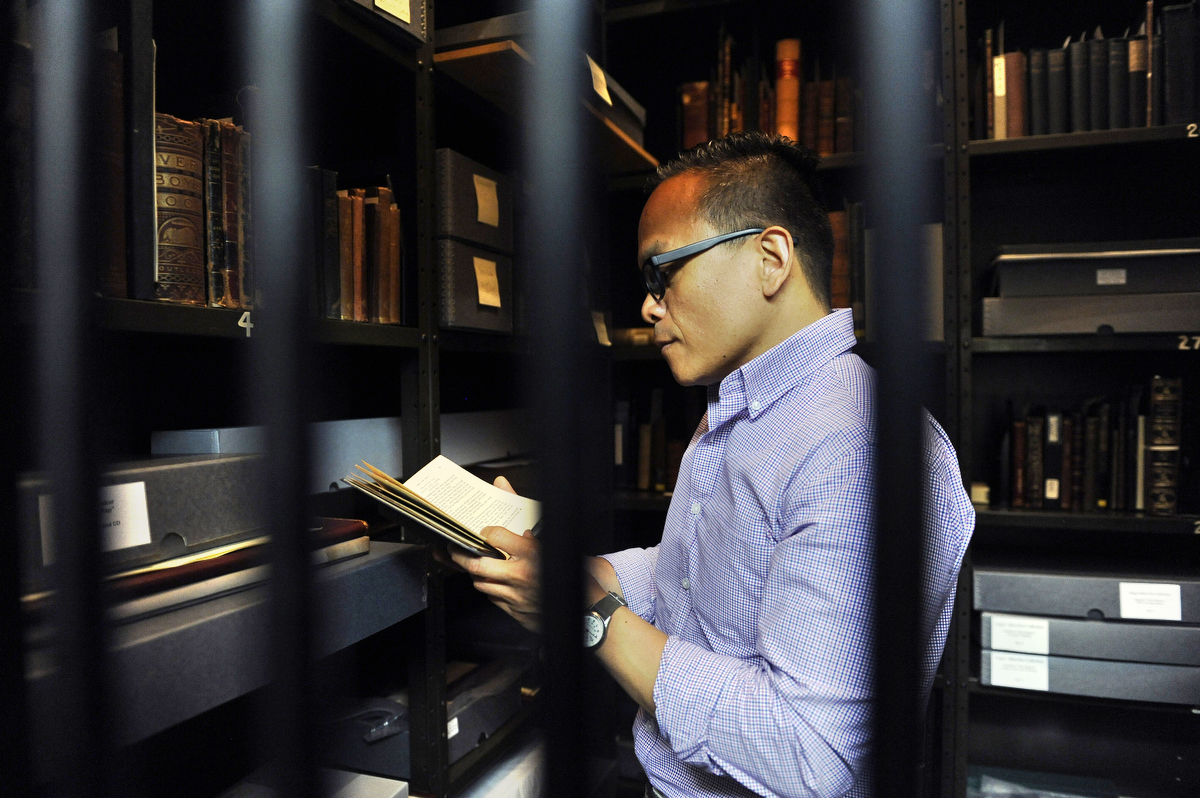 Enoch Pratt Library's special collections vault