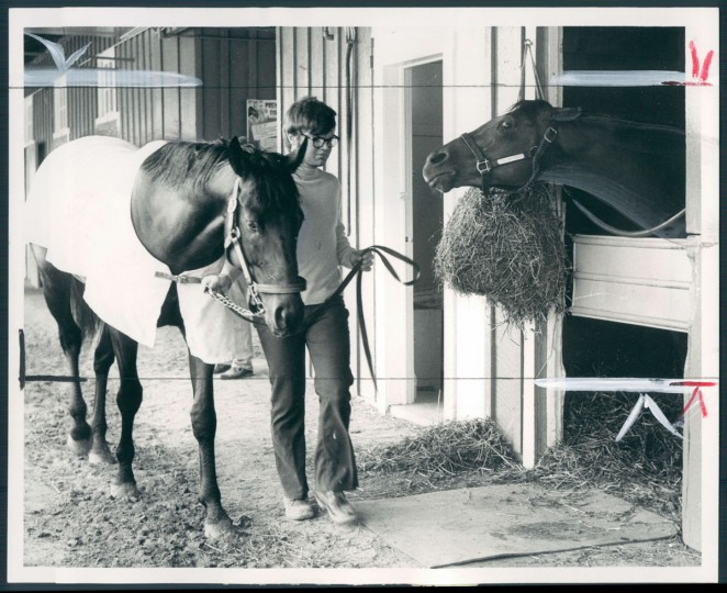 Run Dusty Run and Seattle Slew before the 1977 Preakness Stakes