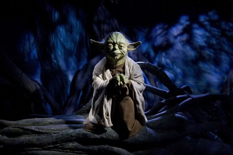 A wax figure of Star Wars character Yoda is pictured at the Star Wars At Madame Tussauds attraction in London on Tuesday. (JUSTIN TALLIS/AFP/Getty Images)