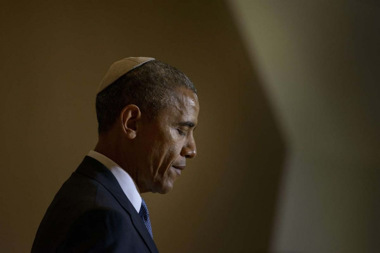 US President Barack Obama speaks at the Adas Israel Congregation May 22, 2015 in Washington, DC.  || CREDIT: BRENDAN SMIALOWSKI - AFP/GETTY IMAGES