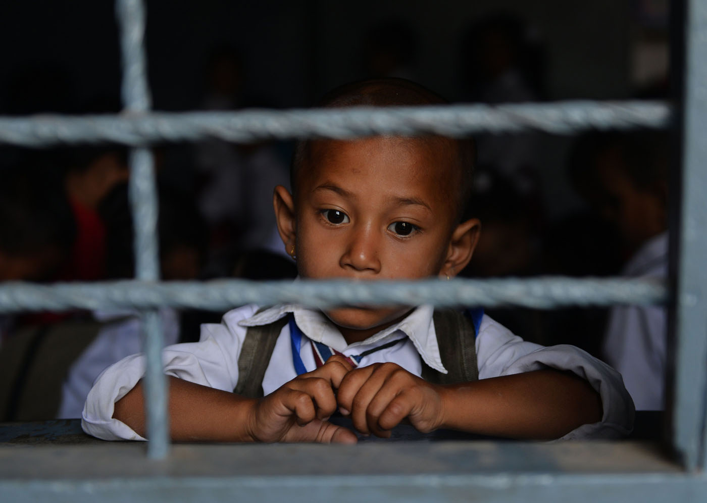 Nepalese children return to school