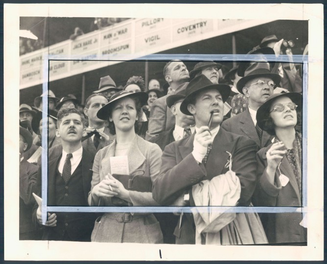 May 17, 1937-PREAKNESS DAY--The crowd at Preakness to see War Admiral defeat rival Pompoon. (Baltimore Sun archives)