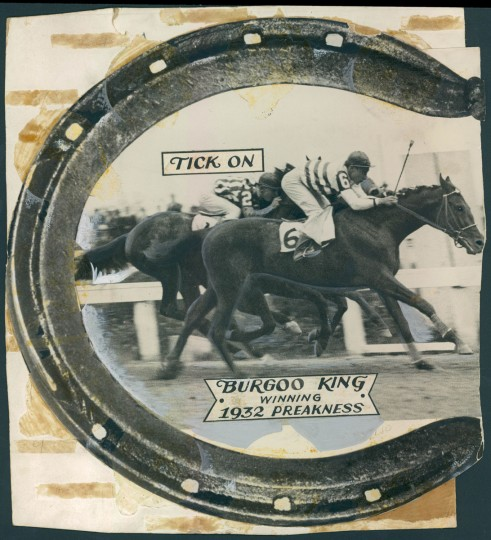 Burgoo King wins Preakness in 1932. (Baltimore Sun archives)