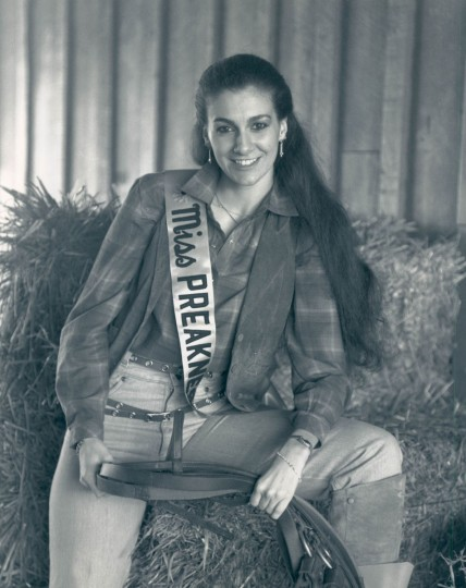 Miss Preakness 1984 - Katrina Owens. She was Miss Maryland National Teenager of 1977, Miss Baseball of 1979 and Miss Collegiate of 1980 while attending Gallaudet College. She is studying respiratory therapy at UMBC. (Baltimore Sun archives)