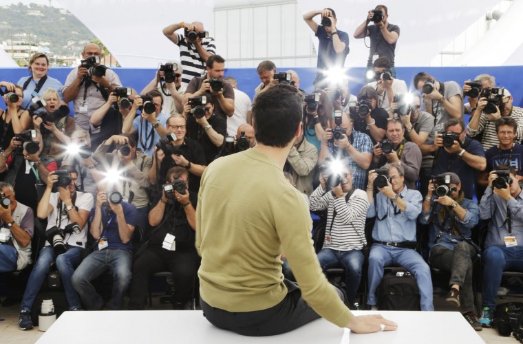Jury member Tahar Rahim poses for photographers during a photo call for the jury of Un Certain Regard, at the 68th international film festival, Cannes, southern France, Thursday, May 14, 2015. (AP Photo/Thibault Camus)