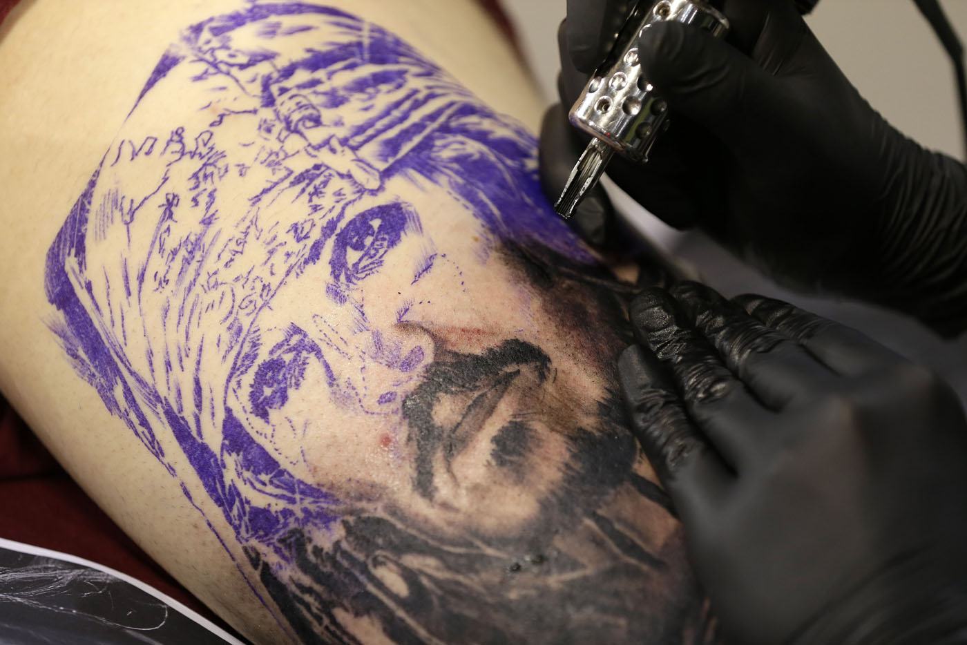 Athens tattoo convention for Captain jack sparrow tattoo