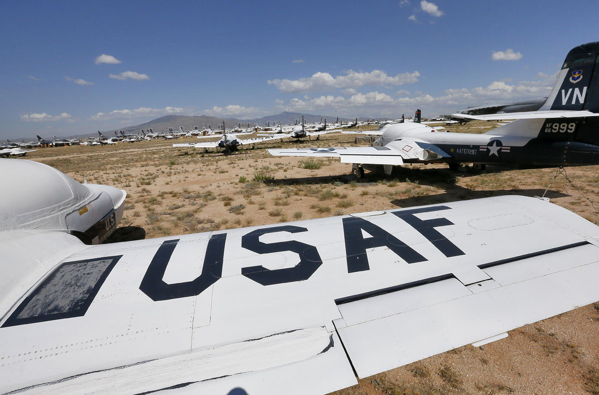Field of u s air force cessna t 37 tweet aircraft are shown at the