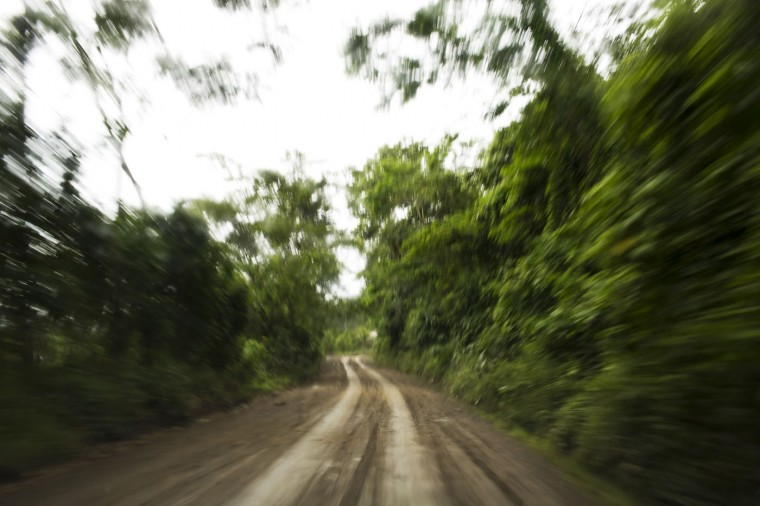 This March 16, 2015 photo, a rural road is seen in La Mar, province of Ayacucho, Peru. While authorities say most of the drugs in the region are now flown out, backpacking is dependable in the rainy season, cheaper than hiring a pilot and plane - and key to evading police checkpoints. Backpackers, or ìmochileros,î (ìmochilaî is Spanish for backpack), have been hauling cocaine this way for nearly two decades. (AP Photo/Rodrigo Abd)