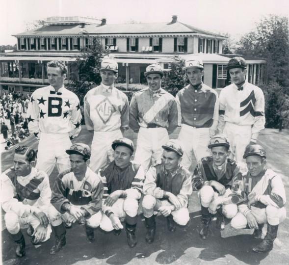 Preakness jockeys, 1954. (AP Wirephoto)
