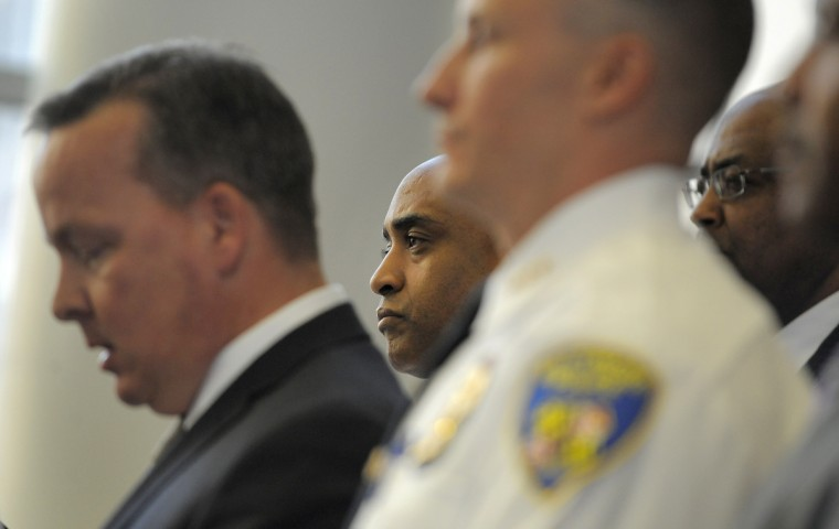Baltimore City Police Commissioner Anthony Batts is seen April 24 during a press conference about the death of Freddie Gray. (Lloyd Fox/Baltimore Sun)