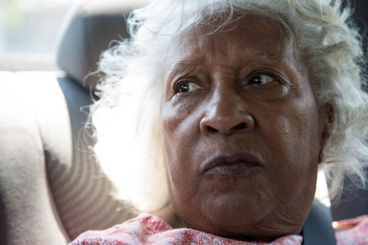 Dr. Helena Hicks gazes out the window while riding around the Sandtown-Windchester neighborhood on May 4, 2015 in Baltimore, Md. (Jessica Koscielniak/McClatchy DC/TNS)