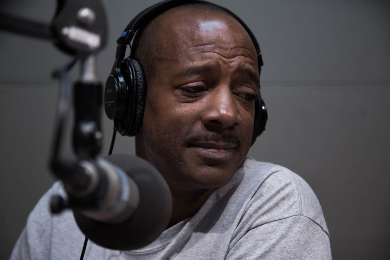 "Doni Glover hosts the ""Empower Hour,"" a news talk show on Radio One Baltimore's WOLB 1010 AM, onMay 5, 2015 in Baltimore, Md. (Jessica Koscielniak/McClatchy DC/TNS)"