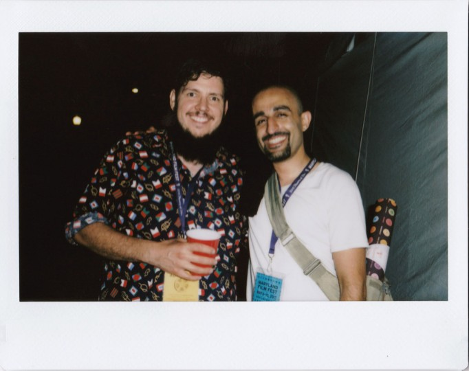 "Scott Braid, programming administrator for the Maryland Film Festival, and Shahin Izadi, director of the short film ""Sara & Dennis."" Photos and text by Jen Mizgata, a Baltimore-based photographer, who can be reached at mizgata@gmail.com. See more of her work at jenmizphoto.com."