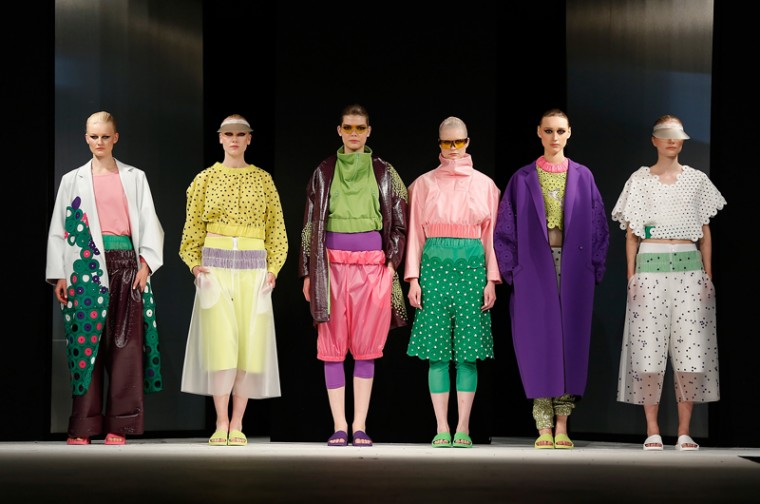 Designs by Nataliya Brady of the University of Brighton during the Best of Graduate Fashion Week show on day four of Graduate Fashion Week at The Old Truman Brewery on Tuesday in London. (Tristan Fewings/Getty Images)