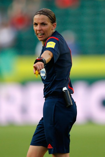 Referee Stephanie Frappart of France is seen as the United States takes on Colombia in the FIFA Women's World Cup 2015 Round of 16 match at Commonwealth Stadium on June 22, 2015 in Edmonton, Canada. (Kevin C. Cox/Getty Images)
