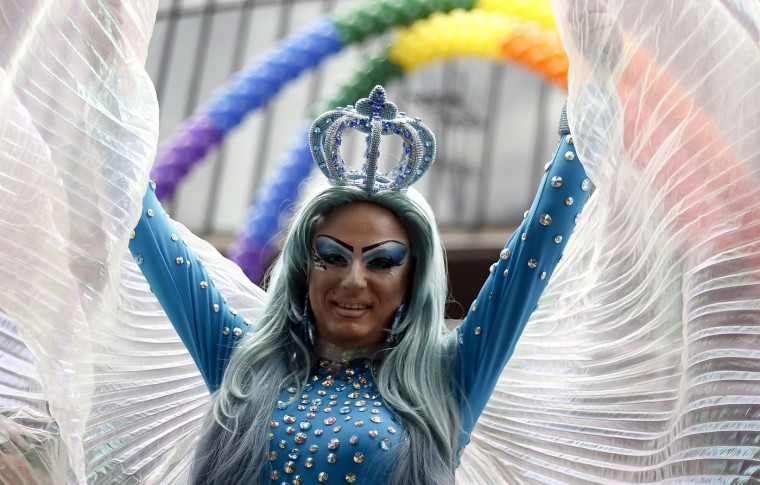 Revellers take part in the annual Gay Pride Parade in Sao Paulo, Brazil on June 7, 2015. (Miguel Schincariol/AFP/Getty Images)
