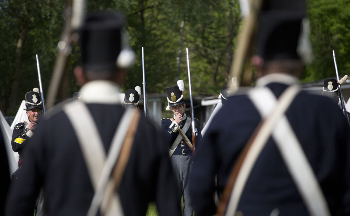 Waterloo re-enactors pay tribute to Belgian-Dutch battalion