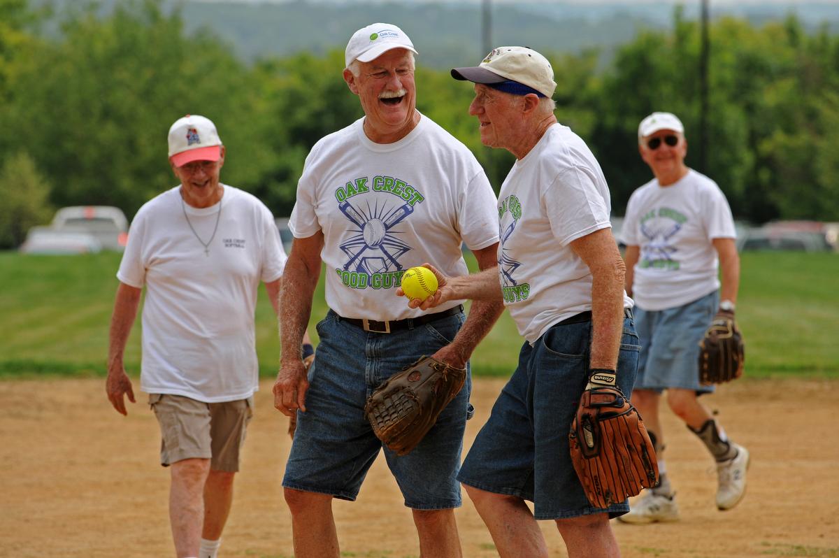 Senior softball tournament: fun and camaraderie
