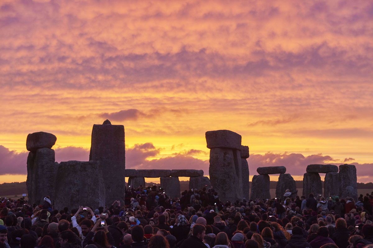 Celebrating  Summer Solstice at Stonehenge
