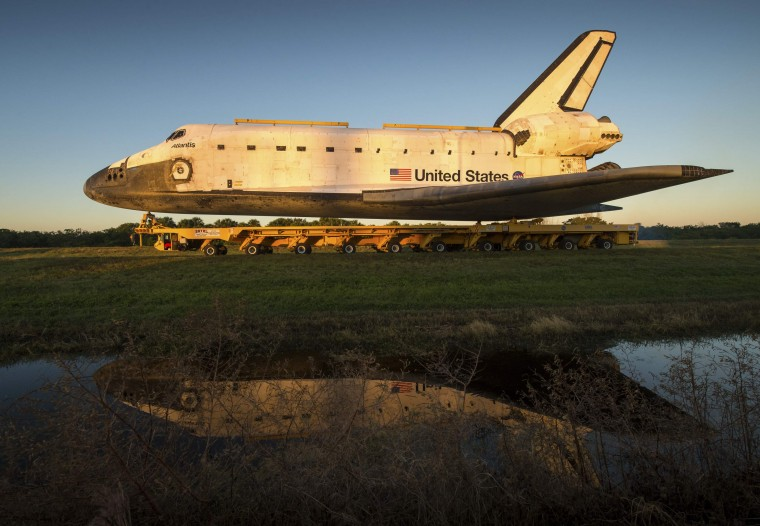 July 8, 2011: The Space Shuttle Atlantis, seen here in this 2012 file photo, embarked on the last mission of U.S. Space Shuttle program. It returned July 21, 2011 and now lives at the Kennedy Space Center Visitor Complex in Cape Canaveral, Florida (Reuters/Bill Ingalls/NASA/Handout)