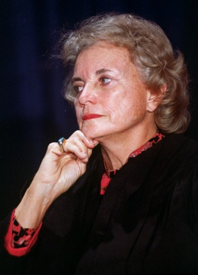 July 7, 1981: Sandra Day O'Connor, seen in this 1992 file photo, is appointed the first female justice of the U.S. Supreme Court by President Ronald Reagan. (AP file photo)