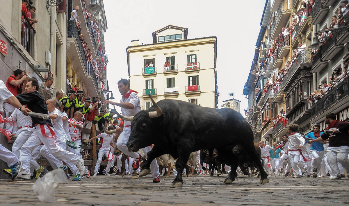 Third day of San Fermin Running of the Bulls Festival
