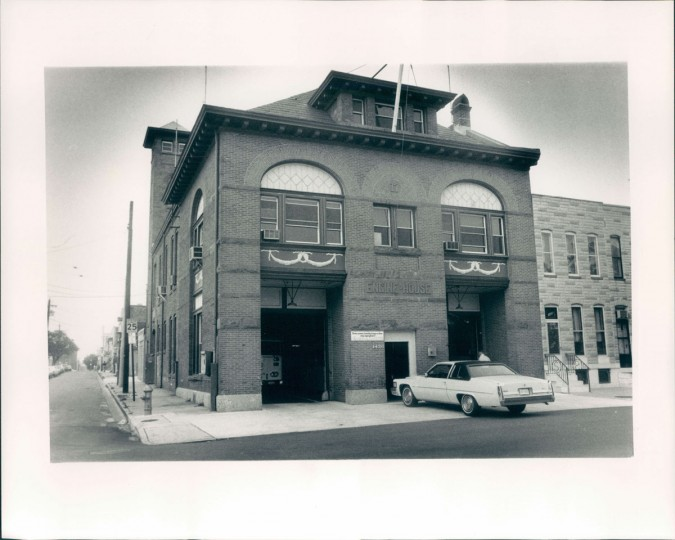 The Locust Point fire house is pictured on July 6, 1984. (Baltimore Sun photo by Robert K. Hamilton)