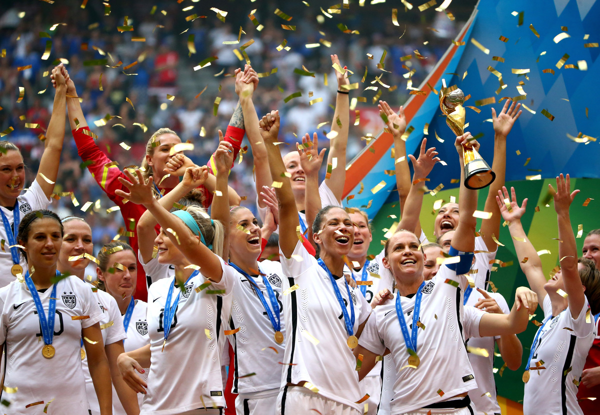 U.S. dominates Japan 5-2 to win the FIFA Women's World Cup soccer championship