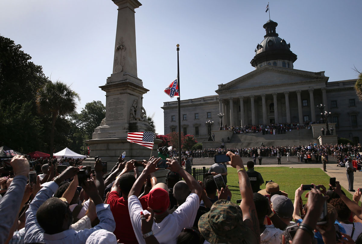South Carolina removes the Confederate flag from the capitol grounds