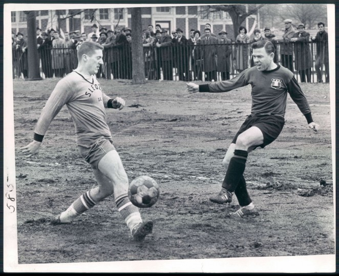 A Locust Point soccer team faces an Italian club on Feb. 11, 1963. (Baltimore Sun photo by Paul Hutchins)