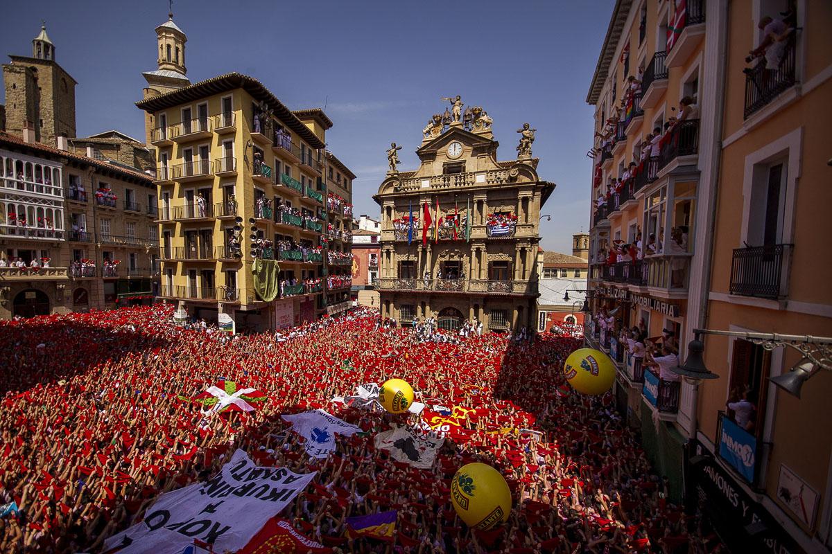 2015 San Fermin fiestas in Pamplona, Spain