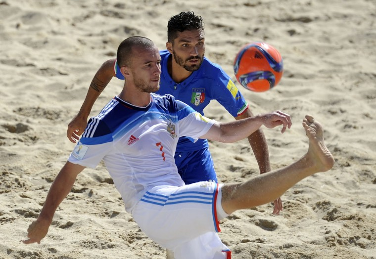 AP Portugal Beach Soccer World Cup Italy Russia