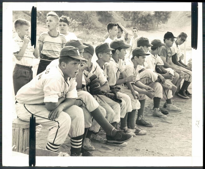 Little League baseball, July 18, 1957. (Ellis Malashuk/Baltimore Sun)