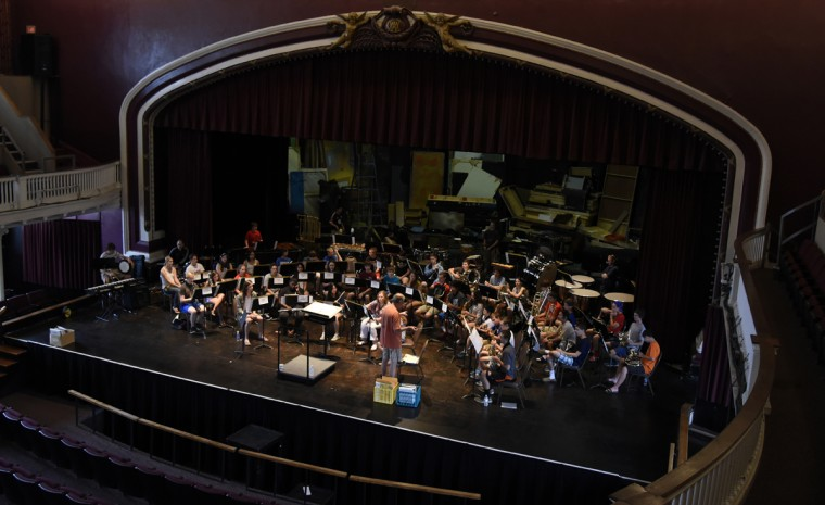 Rehearsal takes place at the 30th annual summer music camp for middle and high school students on the campus of McDaniel College.  (Barbara Haddock Taylor/Baltimore Sun)