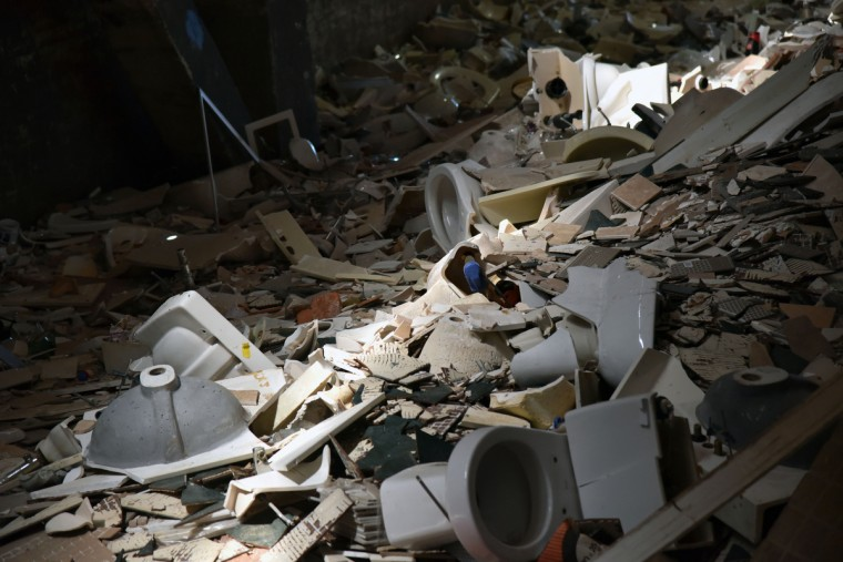 A vast array of broken fixtures are seen in the warehouse at Second Chance, Inc. (Kim Hairston/Baltimore Sun)