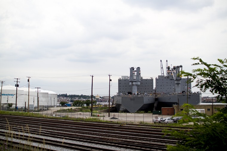 Ships adjacent to SIlo Point. (Kalani Gordon, Baltimore Sun, 2015)